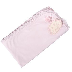 Baby Biscotti Cotton infant Pink Receiving Blanket